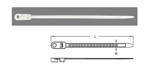 Dây rút nhựa cố định cáp – Mounting Cable Ties